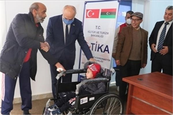 TIKA Donates Equipment to Disabled People in Libya